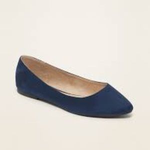 Forever 21 Navy Faux Suede Flat
